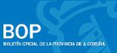 Logotipo do BOP A Coruña